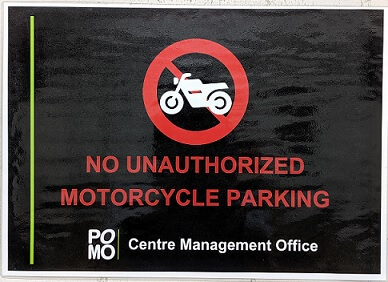pomo no motorcycle parking